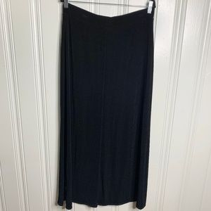 Travelers by Chico's Black Maxi Skirt Size 2=L(12)